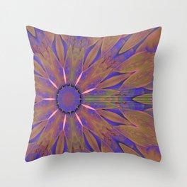 Cornus canadensis transformed Throw Pillow