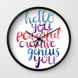 Powerful Creative Genius Wall Clock