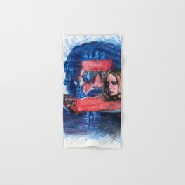'Rush' film poster - Drawing in colour pencil Hand & Bath Towel