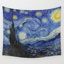 The Starry Night by Vincent van Gogh Wall Tapestry