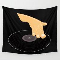 dj Wall Tapestries featuring Dj Scratch by Adamzworld