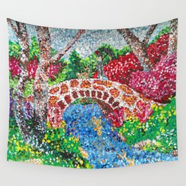 Pointalism Pond Wall Tapestry