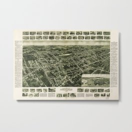 Aerial View of Amityville, New York (1925) Metal Print