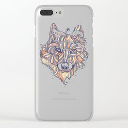 Wave Wolf Clear iPhone Case
