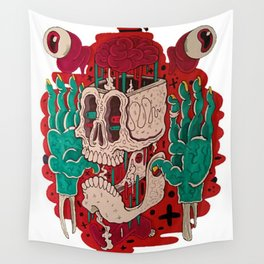 Skull & accessories Wall Tapestry