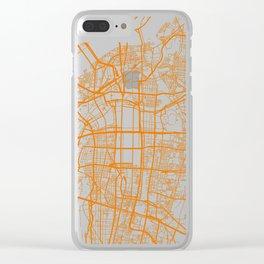 Street MAP Osaka // Orange Clear iPhone Case