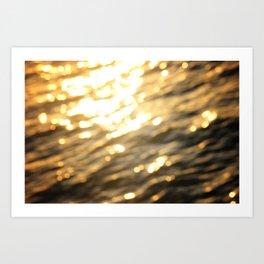 Golden Paradise Art Print