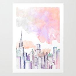 Pastel NYC Art Print