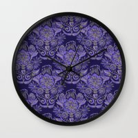 royal Wall Clocks featuring Royal by Sand Salt Moon