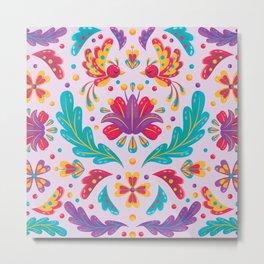 Tropical Folk Pattern  Metal Print