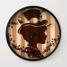 Steampunk Silhouette  Wall Clock
