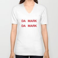 denmark V-neck T-shirts featuring DENMARK by eyesblau