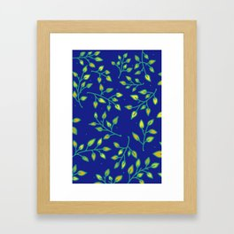 Spring Leaves Framed Art Print