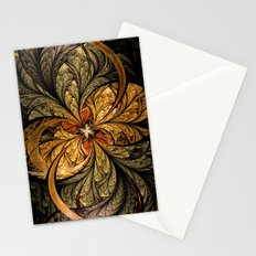 Shining Leaves Fractal Art Stationery Cards