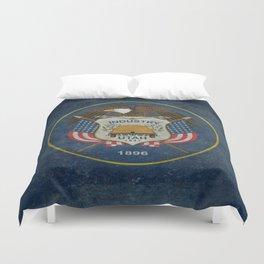 Utah State Flag, vintage retro style Duvet Cover