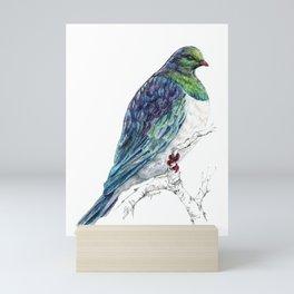 Mr Kereru, New Zealand native wood pigeon Mini Art Print