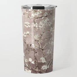 Van Gogh Almond Blossoms Beige Taupe Travel Mug