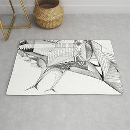 Geometric Architectural Bird-01 Rug