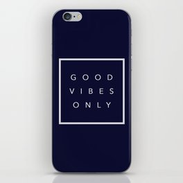 Good vibes only new shirt art vibe love cute hot 2018 style fashion sticker iphone cover case skin m iPhone Skin