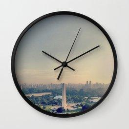 São Paulo skyline / Obelisco Wall Clock
