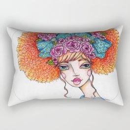 JennyMannoArt Colored Illustration/Jane Rectangular Pillow