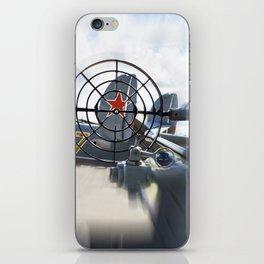 Attack with gun on Soviet plane iPhone Skin