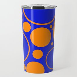 Bubbles And Rings In Orange And Blue Travel Mug