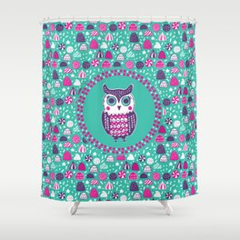 Sweet Owl Shower Curtain