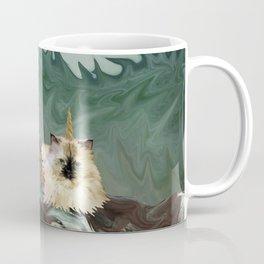 Behold the Mythical Merkitticorn - Mermaid Kitty Cat Unicorn Coffee Mug