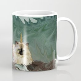 Behold the Mythical Merkitticorn - Mermaid Kitty Cat Unicorn Coffee Mug