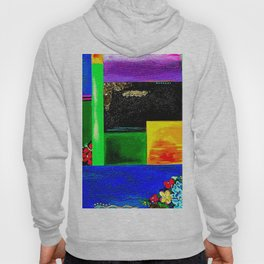 Sunrise in Ponce - Abstract Creative Fusion of Colors and Emotions Hoody