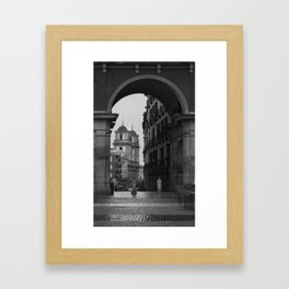 Grey Arch Framed Art Print