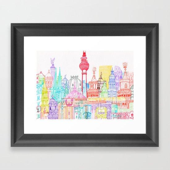 Berlin Towers Framed Art Print