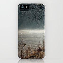 Morning fog, river and sunrise iPhone Case