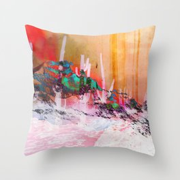 North of Neon Throw Pillow
