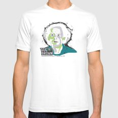 Doc Brown_INK - Back to the Future MEDIUM White Mens Fitted Tee