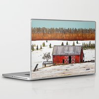 john snow Laptop & iPad Skins featuring First Snow by John Wisker