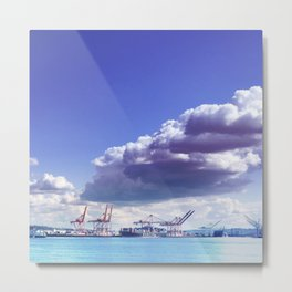 Cargo in Seattle Metal Print