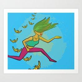 Electric Griot: Leap Art Print