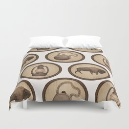 Go Explore! Patches Duvet Cover