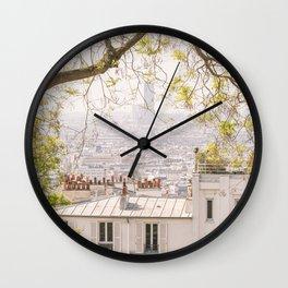Paris city from Montmartre Wall Clock