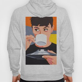 Coffee from the UFO - vintage movies poster hand drawn illustration Hoody