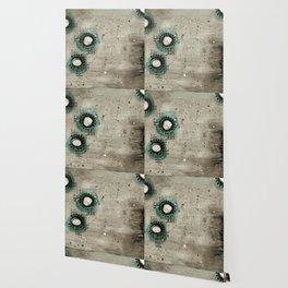 Sepia Circles Left Wallpaper