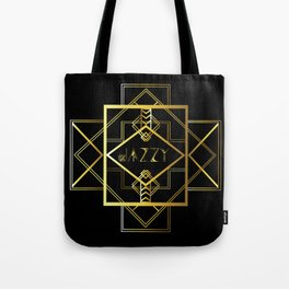 Jazzy Letterform and Pattern Tote Bag