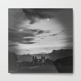 Castle under the Moon Metal Print