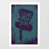 alice wonderland Art Prints featuring Alice in Wonderland by Drew Wallace