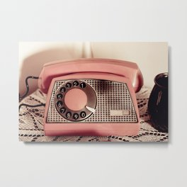 Retro rotary dial phone Metal Print