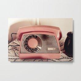 Retro rotary dial phone Metal Print