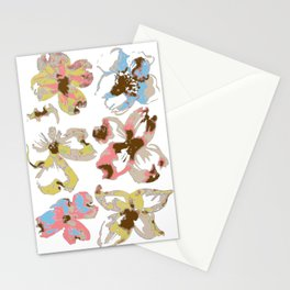 Silk Screen Floral Stationery Cards