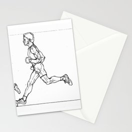 Transition through Triathlon Runners A Stationery Cards